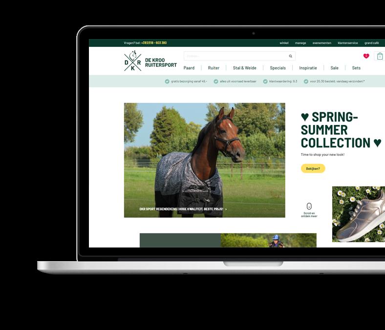 Website de Kroo Ruitersport