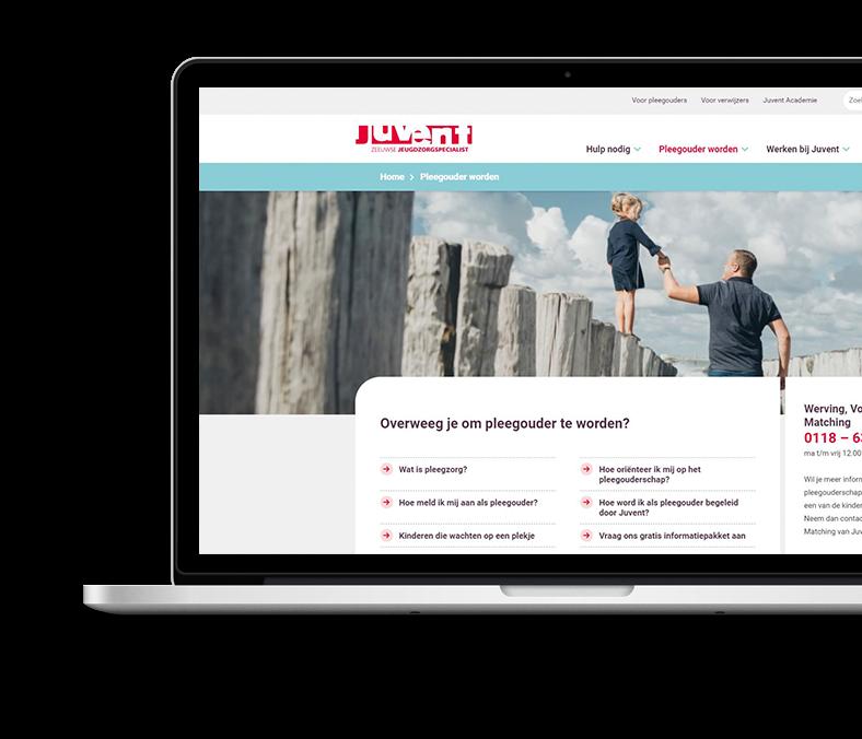Website Juvent werving pleegouders