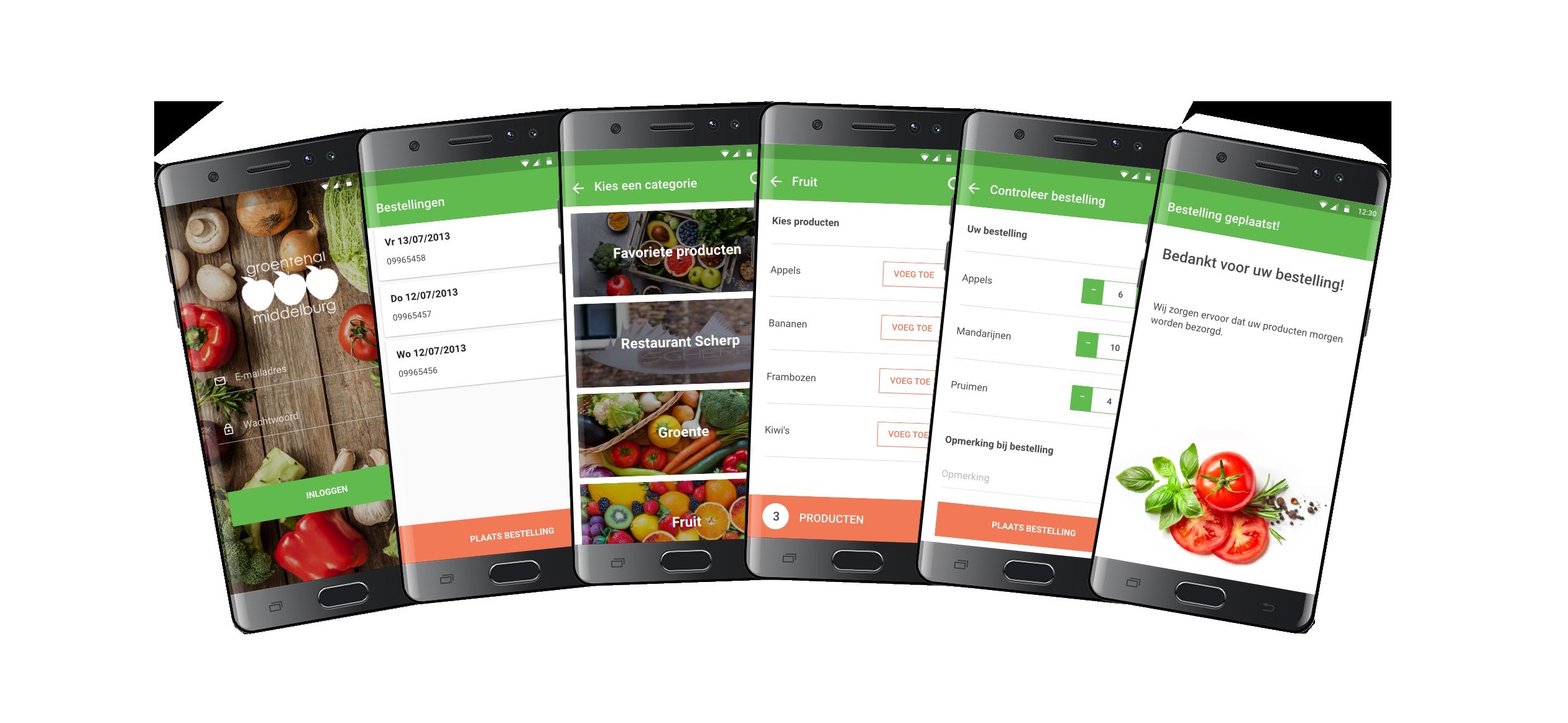 Klanten Informeren Via App groentehal middelburg