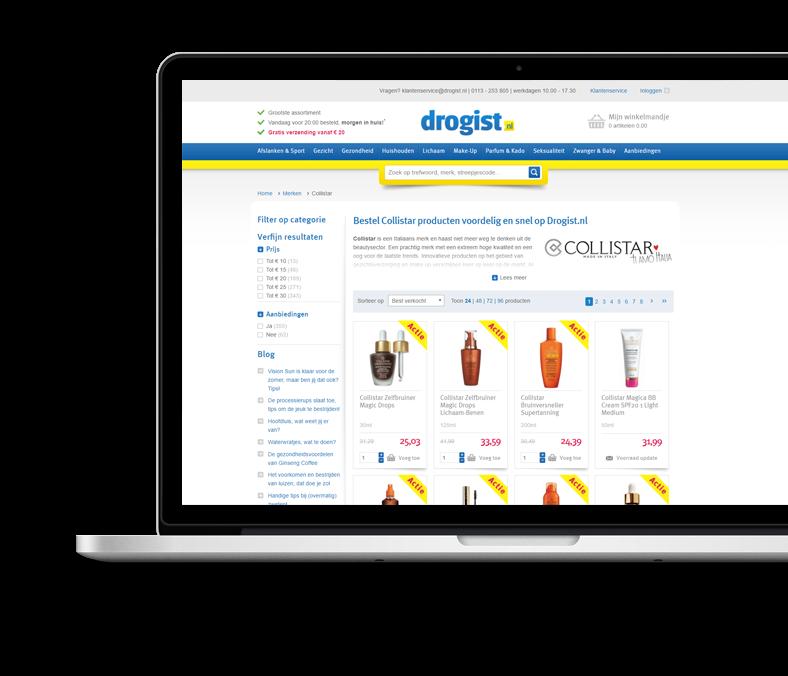 Website Drogist.nl webshop ecommerce