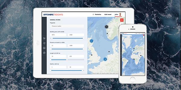 website app ontwikkeling Inzicht in wereldwijde scheepsdata met Offshore Insights