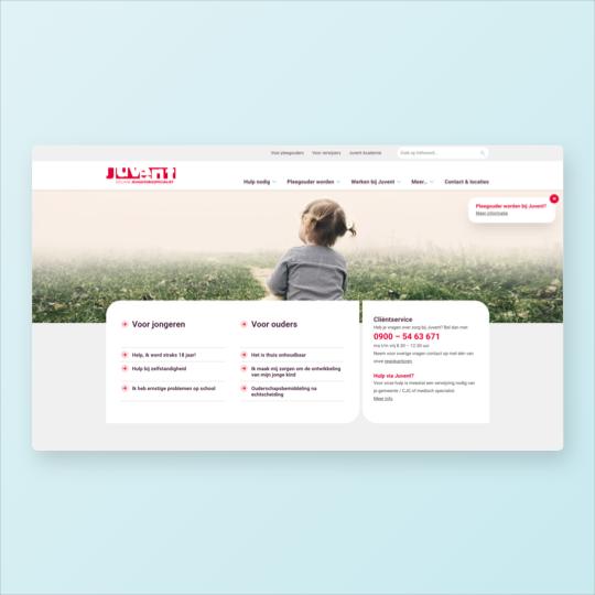 Portfolio Juvent website ontwikkeling social intranet online marketing