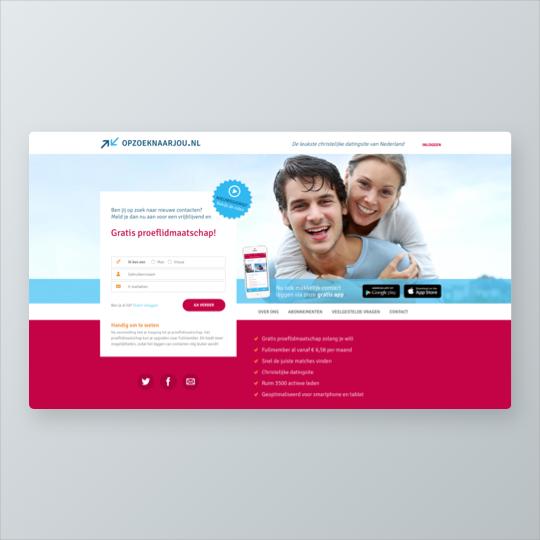 Portfolio Opzoeknaarjou.nl e-commerce webshop online marketing applicaties app ontwikkeling