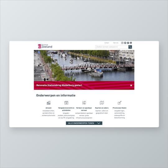 Portfolio Provincie Zeeland website ontwikkeling applicatie ontwikkeling