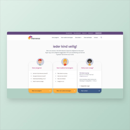 Portfolio Intervence website ontwikkeling online marketing